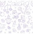 newborn baby shower seamless pattern boy girl vector image