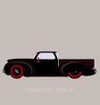 old school pick up vector image