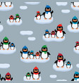penguins on the ice floes vector image