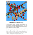 production line conveyor for smartphones creation vector image vector image