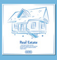 Real estate banner in hand drawn style