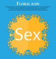 Safe love sign icon Safe sex symbol Floral flat vector image
