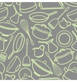seamless background with kitchen utensil vector image