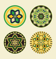 set african decorative elements tribal print vector image vector image