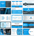 Set of modern creative business card templates vector image vector image