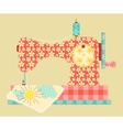 sewing machine vector image