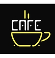 Shop cafe icon coffee cup restaurant sign vector image vector image