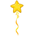 Star shape balloon in yellow color vector image vector image