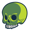 strange skull vector image vector image