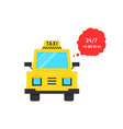 taxi service with speech bubble vector image vector image