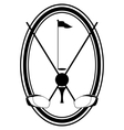The icon for the game of golf vector image vector image