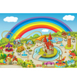 Theme park Background vector image vector image