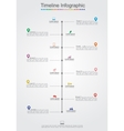 Timeline Infographic template with icons vector image vector image