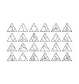 triangle design elements set vector image vector image