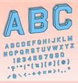 volumetric 3d font in perspective vector image