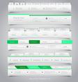Web site navigation menu pack 25 vector image vector image