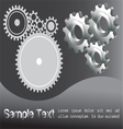 White gears vector image