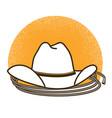 wild west symbol with cowboy western hat vector image vector image