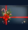 winer dark decoration vector image vector image