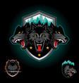 wolf pack emblem logo vector image