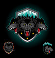 wolf pack emblem logo vector image vector image