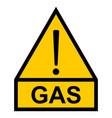 yellow hazard warning sign exclamation mark text vector image vector image