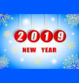 2019 new year golden snowflakes and bright stars vector image