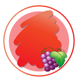 A round empty template with grapes vector image vector image