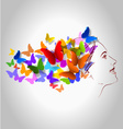 a woman of butterflies in h vector image