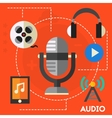 Audio production and podcast concept vector image