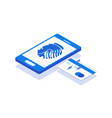 biometric authentication creative concept vector image vector image