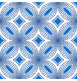 blue flower pattern halftone background vector image vector image
