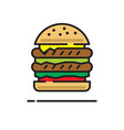 burger icon on white background for graphic and vector image