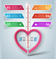 business of a thermometerheart vector image vector image