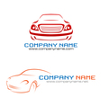 Car company logo vector image vector image