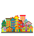 cartoon colored houses vector image vector image