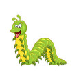 cartoon millipede with tongue character isolated vector image
