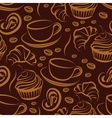coffee break seamless background vector image vector image