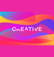 creative color shapes design modern colorful vector image vector image