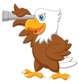 Eagle cartoon watching vector image