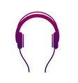 earphone icon listen to stereo music with an vector image vector image