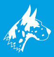 great dane dog icon white vector image