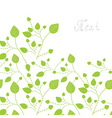 Green leaves bacgkround vector image vector image