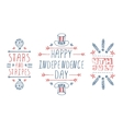 Hand-sketched independence day typographic vector image