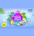 happy amazing songkran festival thailand vector image
