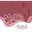 happy ganesh chaturthi background in eithnic vector image vector image