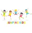 happy kids isolated on white background vector image vector image