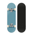 high detail skateboard front and back vector image