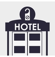 Hotel design travel icon Isolated and flat vector image vector image