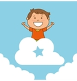 Kids friends celebration cartoon vector image vector image